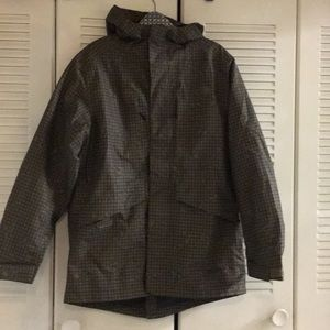 Men's the north face hood jacket M dark olive